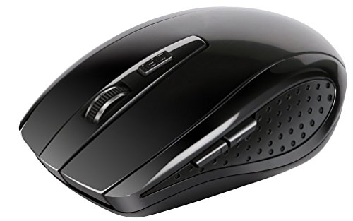 GPCT Wireless Ergonomic Gaming USB Optical Mouse (Comfortable Grip/Reduced Hand Fatigue, 6 Button 2.4GHz Wireless Optical Mouse With Nano Receiver) - Black