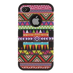 2-in-1 Design Nationality Pattern Protective Hard Case for iPhone 4/4S (Assorted Colors) , Pink