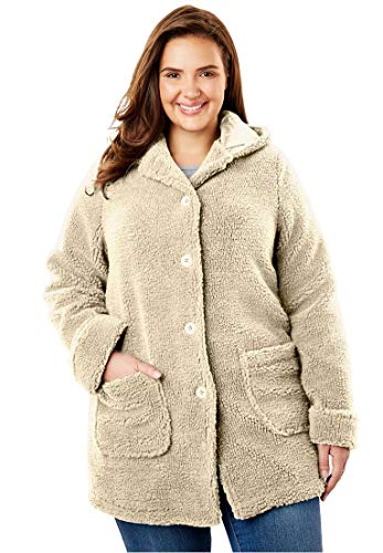 Woman-Within-Plus-Size-Hooded-Berber-Jacket