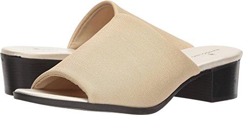 Bandolino Women's EVELIA Slide Sandal, Gold Fabric, 7.5 M ()