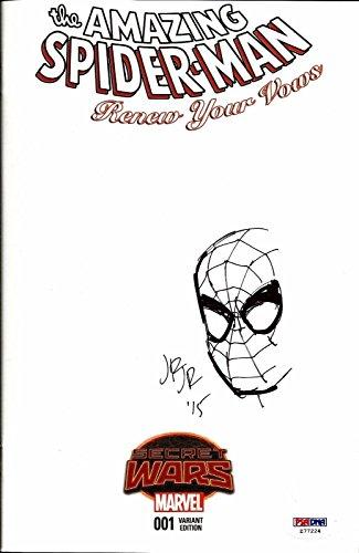 John Romita Jr. AMAZING SPIDERMAN #1 Signed ORIGINAL Sketch Comic PSA/