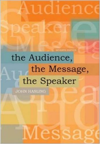 The Audience, The Message, The Speaker with Public Speaking PowerWeb