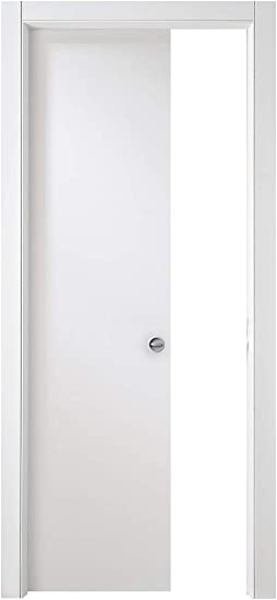 Puerta corredera interior pared Milano 200 (laminado de color blanco, cm 210 x 70: Amazon.es: Bricolaje y herramientas