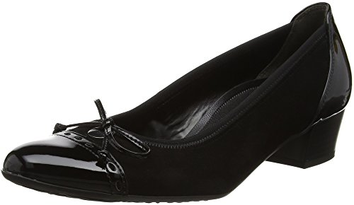 Comfort 47 de Tacón Shoes schwarz Mujer Gabor para Negro Zapatos 4q5z1P