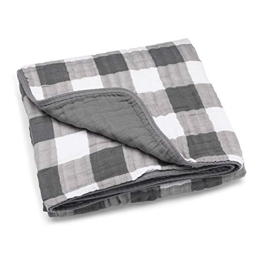 Parker Baby Muslin Blanket - 100% Soft Cotton Baby Quilt and Kids Blanket - Unisex, Gender Neutral -