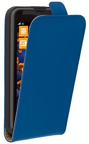 mumbi Flip Case Nokia Lumia 630/635 Tasche blau