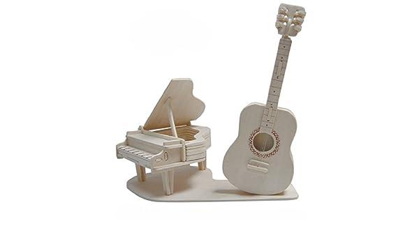 "Miniature Dollhouse wood Black Electric Guitar 2 1//2/"" L   No moving parts"