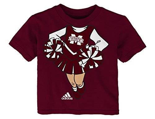 Outerstuff NCAA Mississippi State Bulldogs Infant Cheerleader Dreams Short Sleeve Tee, Brick, 24 Months