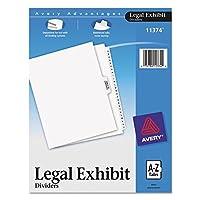 Avery-Style Premium Clasificación legal Índice Divisores de exposición, A-Z y tabla de contenido, pestaña lateral, 8.5 x 11 pulgadas, 1 juego (11374)