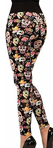Halloween Costumes Day Of The Dead - Forum Novelties Women's Day Of The Dead Leggings, Multi, One Size