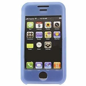 Azul Silicone skin estuche cubierta para Apple iPhone 3G 3GS