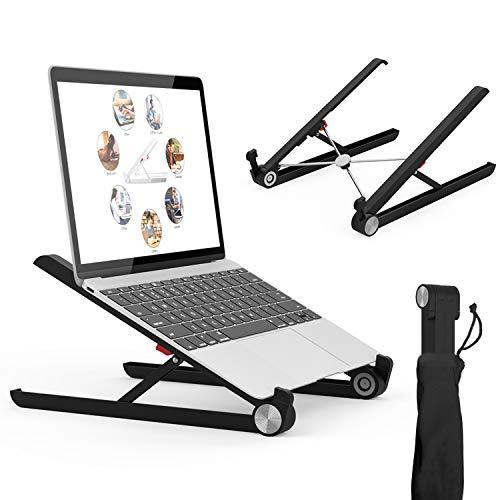 (Laptop Stand, Portable Laptop Stand, Foldable Desktop Notebook Holder Mount, Adjustable Eye-Level Ergonomic Design, Portable Laptop Riser for Notebook Computer PC Pad Tablet EURPMASK)