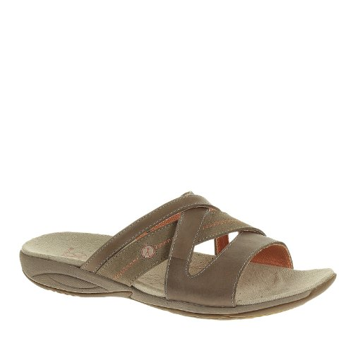 Hush Puppies Womens Sandali Zendal Slide X-band In Pelle Taupe / Pelle Scamosciata