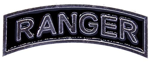 - US Army Ranger Tab Insignia Metal Badge Silver Pin (Large Size)