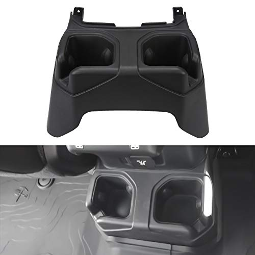 (ABS Rear Cup Holder Cap Cover Rear Seat Armrest Drinks Holder Box for Jeep Wrangler JL 2018 2019)