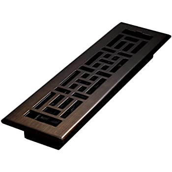Decor Grates AJH212-RB Floor Register, 2 x 12, Rubbed Bronze