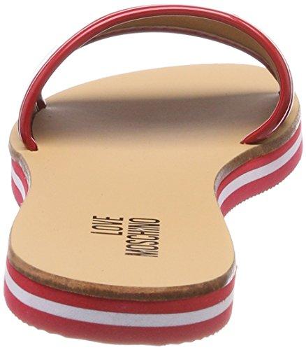 Vern Bian Rosso 54418 Moschino Sabotd Pantoletten Damen Red mehrfarbig White Love 20 Nap S0qpY