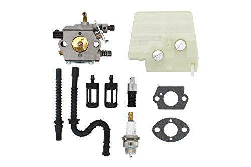 MOTOKU Carburetor Air Filter Fuel Oil Line Spark Plug Carb Kit for Stihl MS260 MS240 024 024AV hainsaw Wood Boss 024 AVS Saw Replaces Walbro WT-194 WT-194-1 Tillotson HU-136A HS-136A