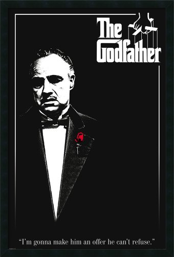 Framed Art Print, 'Godfather - Red Rose': Outer Size 25 x 37