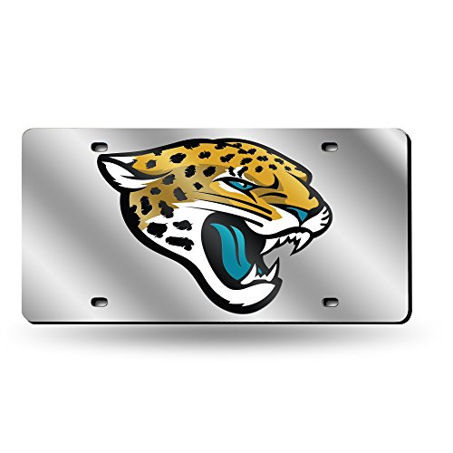 Rico Industries NFL Jacksonville Jaguars Laser Inlaid Metal License Plate Tag, ()