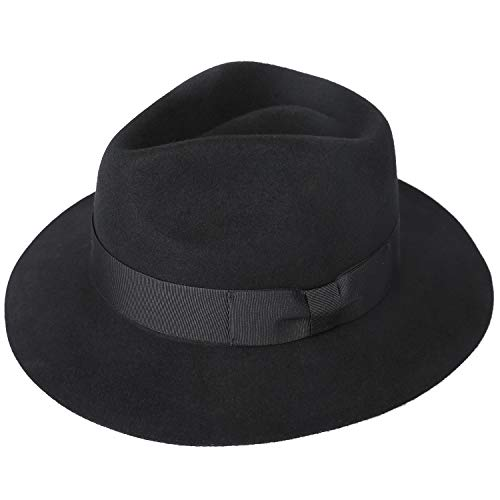(Sedancasesa 100% Wool Felt Fedora Hat Men's Dress Western Outback Safari Hats)