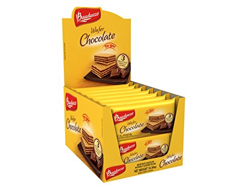 Wafer Cookie Recipes (Bauducco Mini Crispy Wafer Cookies, Single Serve, Chocolate, 1.41 oz., Box of 12)