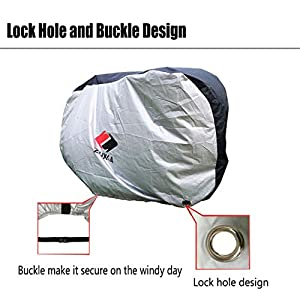 ZUKKA Bike Cover Large XL,Outdoor Waterproof Bicycle Ebike Motorcycle Covers,Rain Snow Sun Dust Wind Proof with Lock Hole