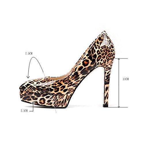 Hauts Peu Gold Party Stiletto En Talons Profondes Sexy Robe Chaussures Pointu Dames à Cuir Noces forme Femmes Chaussures Plate Léopard Talons Soirée De gwOdgq