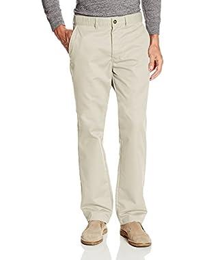 KHAKI Men's Flat Front Pant - Regular Taper Fit