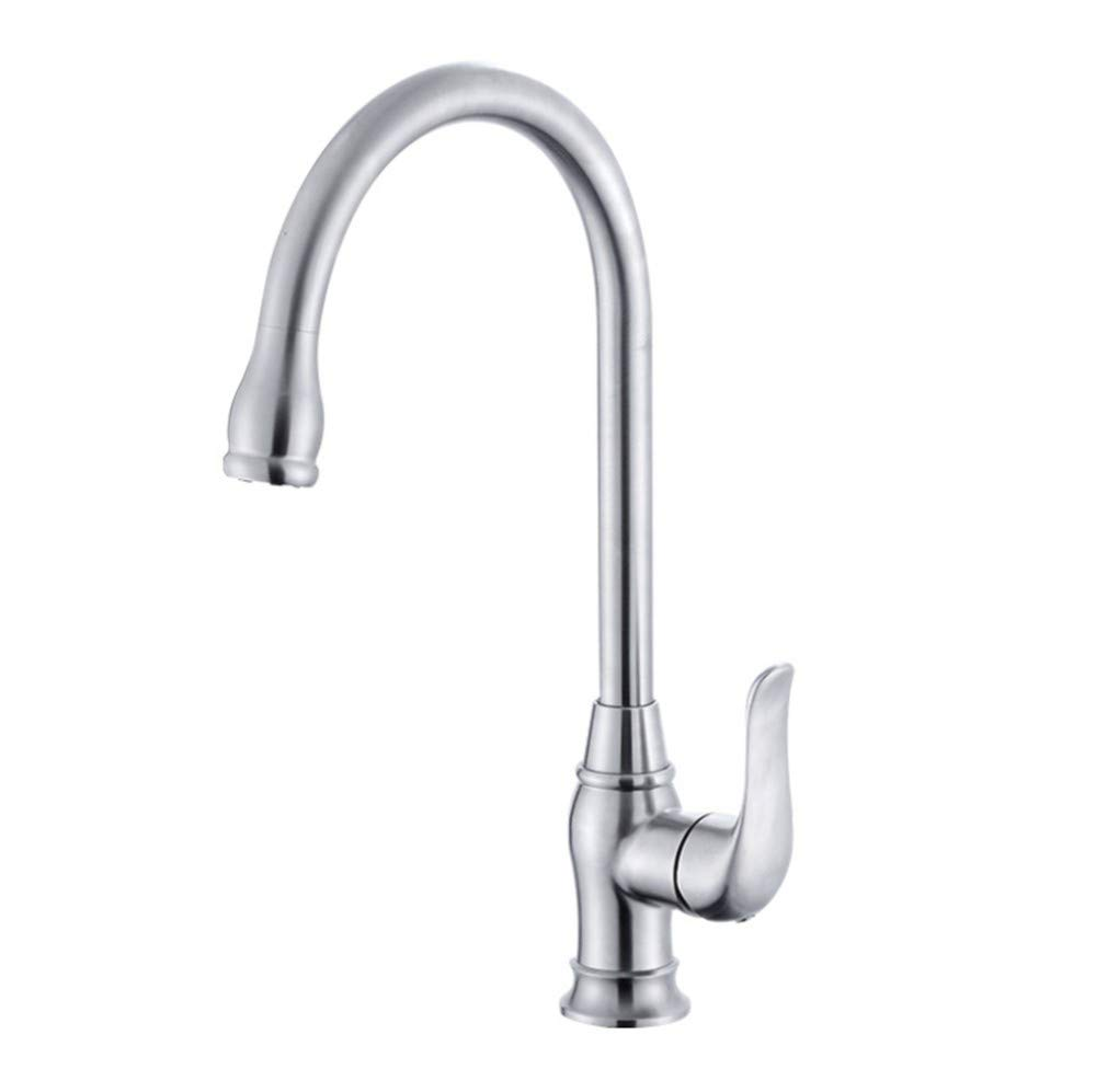 Basin Taps Swivel Spout Faucet Kitchen Hot and Cold Faucet Stainless Steel Sink Hot and Cold Kitchen Mixed redating Faucet