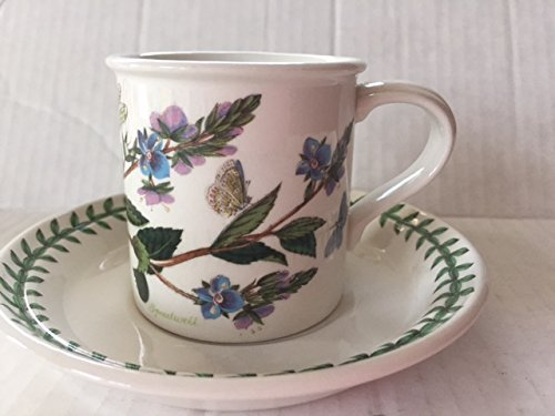 Portmeirion Flat Demitasse Cup & Saucer in Botanic Garden 2 5/8