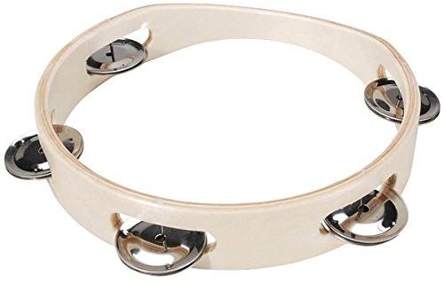 Darice 1177-10 -Wood Instrument Bell Ring - Inch Tambourine 7