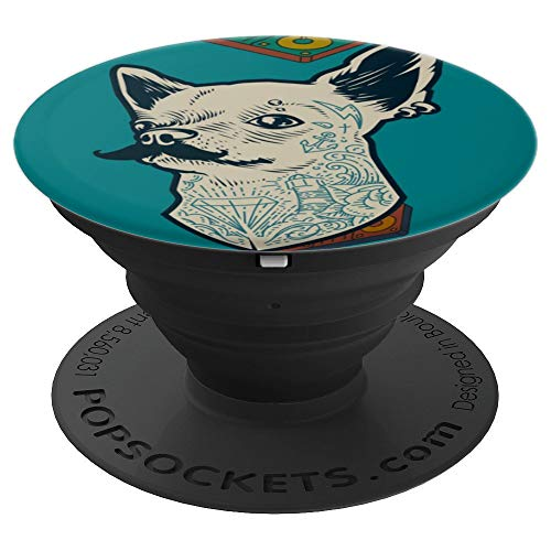 Funny Chihuahua mustache - PopSockets Grip and Stand for Phones and Tablets]()