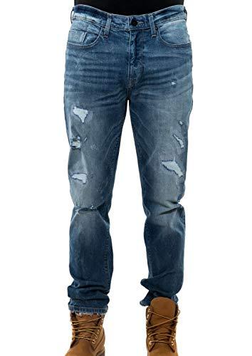 Sean John Tall Jeans - Sean John Men's Slim-Fit Ripped Jeans Blue 34x32