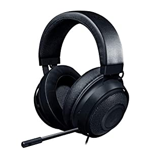 Razer Kraken Gaming Headset: Lightweight Aluminum Frame, Retractable Noise Isolating Microphone, For PC, PS4, PS5…
