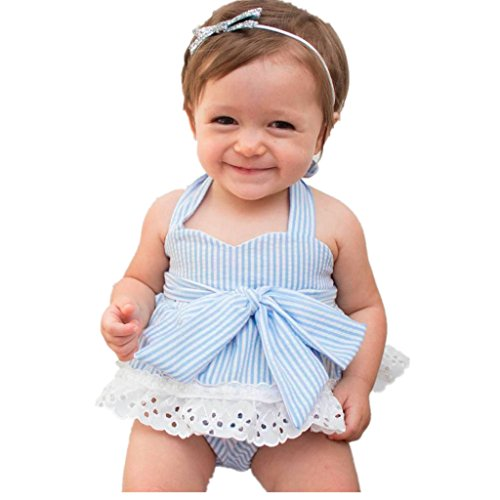 Lite Cloth Strap (Baby Princess Outfits Set,BeautyVan 2017 New Fashion Cartoon Blue Newborn Girls Bowknot T-Shirt+Shorts+Headband Clothes Outfits Set (18M, Light Blue))