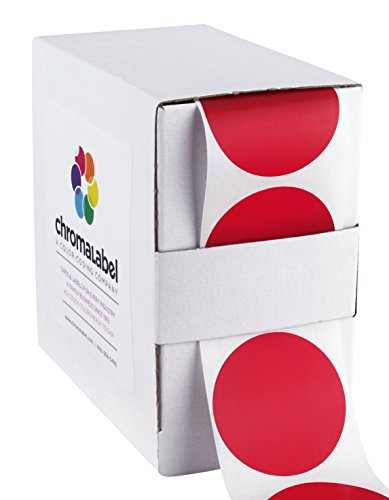 (ChromaLabel 1-1/2 inch Color-Code Dot Labels | 500/Dispenser Box)