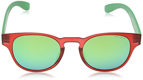 Green amp; soleil Frame Lunette Transparant Mirror Red de Exchange Ronde Turquoise Police Lens S1945 2 Shiny BPwvw1q