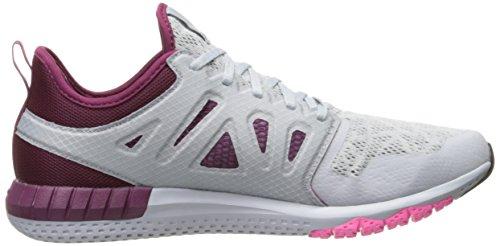 Reebok Womens Zprint 3d Hardloopschoen Wolk Grijs / Rebel Berry / Poison Pink / Pewter