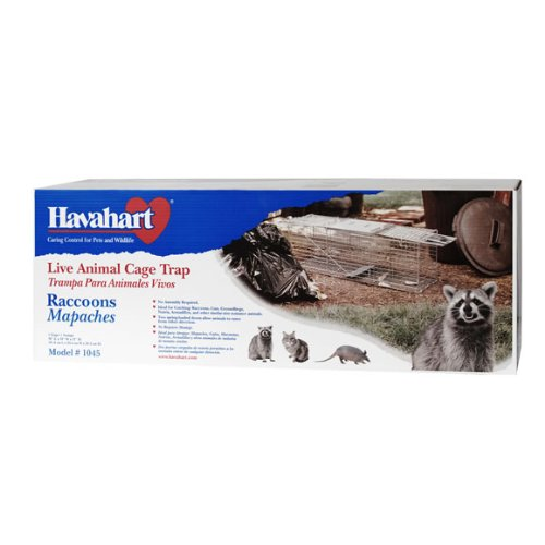 Review Havahart 1045 Live Animal Two-Door Raccoon, Stray Cat, Opossum, and Groundhog Cage Trap