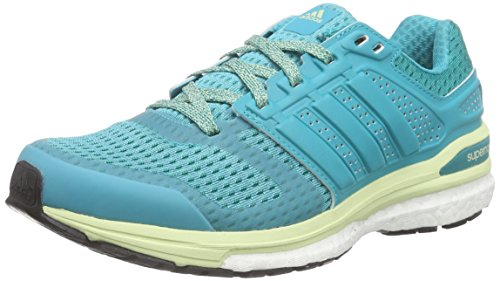 adidas Performance Damen Supernova Sequence Boost 8 Laufschuhe, Grün (Shock Green S16/Shock Green S16/Halo S16), 40 EU