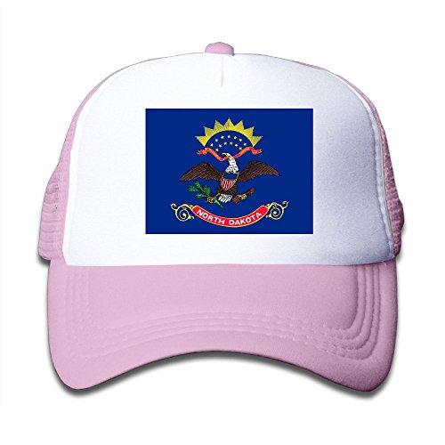 discount Futong Huaxia Flag Of North Dakota Boy & Girl Grid Baseball Caps Adjustable sunshade Hat For Children for sale