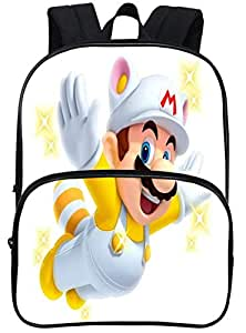 Super Marie kids large capacity travel bag cute Mario pattern waterproof child student backpack