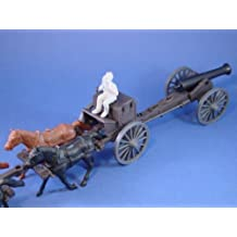 Marx Civil War Playset 1/32 Toy Soldiers Commemorative Confederate Limber Caisson Set with 24-pounder Cannon