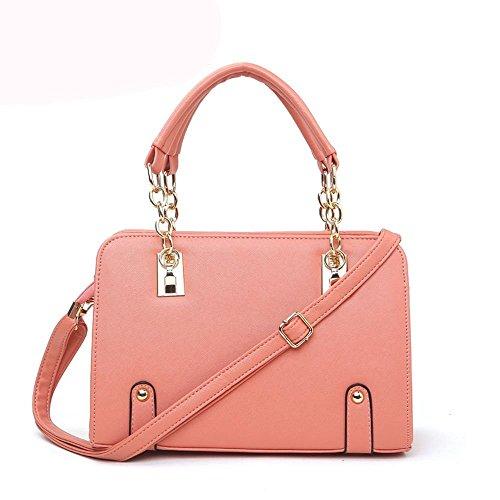 Shiraleah Print Clutch (Ryse Womens Fashionable Metal Classic Square Leather Handbag Shoulder Bag(WaterPink))