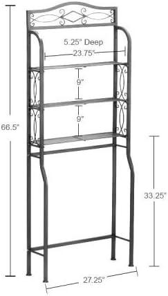 56/x 25/x 151/cm skiesoar/ /Mueble de almacenaje Au-Dessus Des ba/ño estanter/ía de almacenamiento de ba/ño met/álico con 3/niveles estante dessus lavadora economie D Espacio para WC