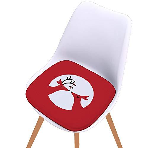 E(TM)Christmas Memory Chair Seat Pad Soft Cushion Dining Patio Home Office Decor (B) ()