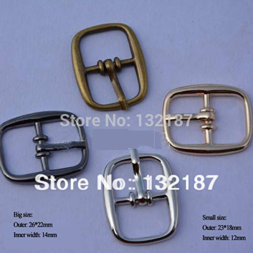 Buckes - Wholesale 40pcs/lot 12mm 14mm Metal Shoe Buckle Belt pin Buckle Metal zinc Alloy Nickle/Black/Bronze/Gold BK-001 - (Size: 12mm Mixed Colors) from Lysee