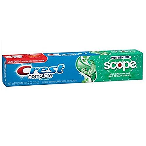Crest Complete Multi-Benefit Fluoride Toothpaste, Whitening + Scope, Minty Fresh 6.2 oz