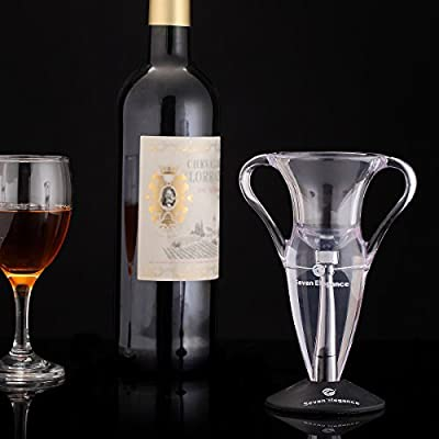 HSS® Unique Wine Aerator Premium Aerating Pourer Diffuser Wine Decanter Set with Sediment Filter Special Design for Gifts